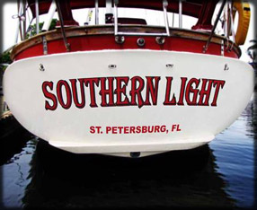 Boat lettering example image