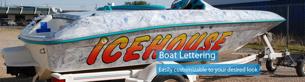 Order boat graphics and lettering