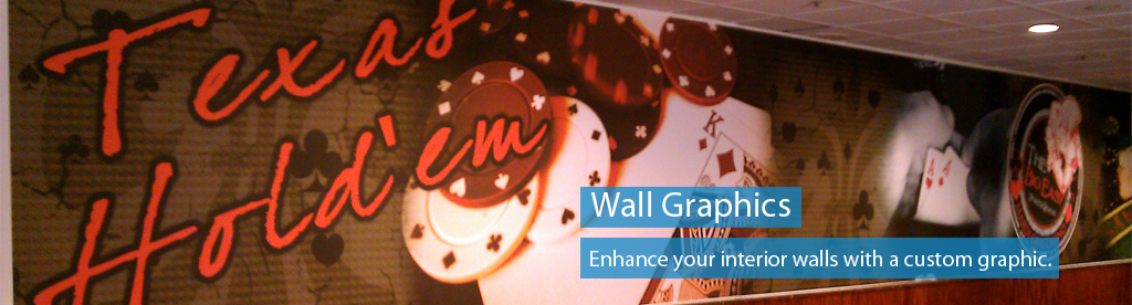 Order wall graphics and lettering