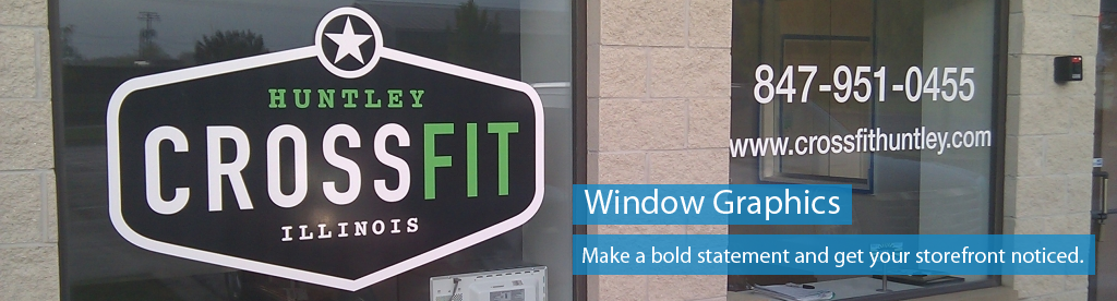 Order window graphics and lettering
