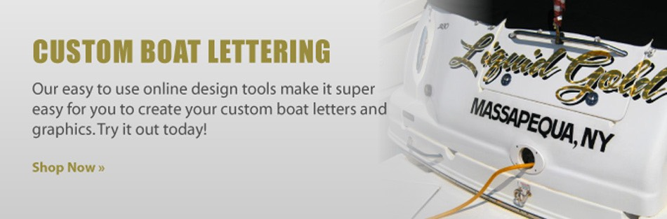 Shop for boat lettering
