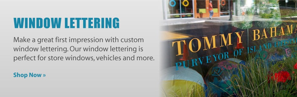 Purchase window lettering