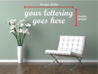 Wall Lettering Sizing Hints