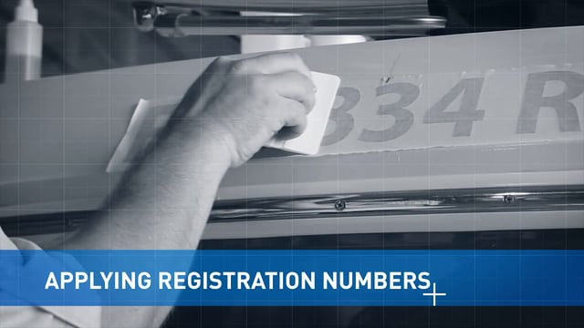 Applying Boat Registration Numbers