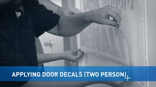 Applying Door Vinyl: 2 Person