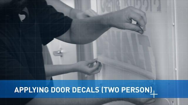 Applying Door Vinyl: 2 Person