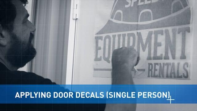 Applying Door Vinyl
