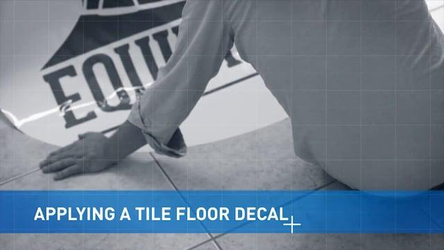 Applying Tile Floor Vinyl