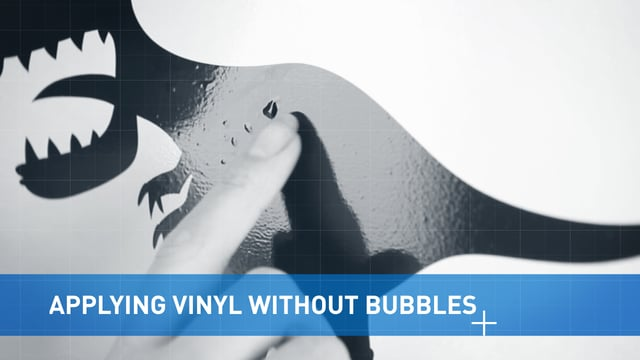 Applying Vinyl Without Bubbles