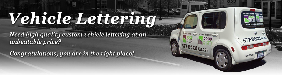 Vehicle lettering - Design your own vehicle lettering