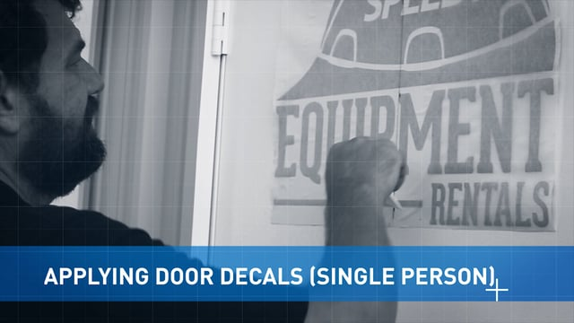 Applying Door Vinyl