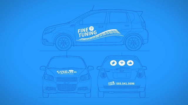 Business Advertising With Lettering & Graphics