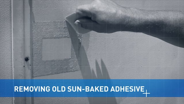 Removing Old Sun-Baked Adhesive